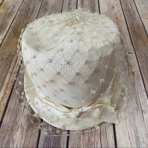 Original Vintage Union Made Veiled Wedding Hat